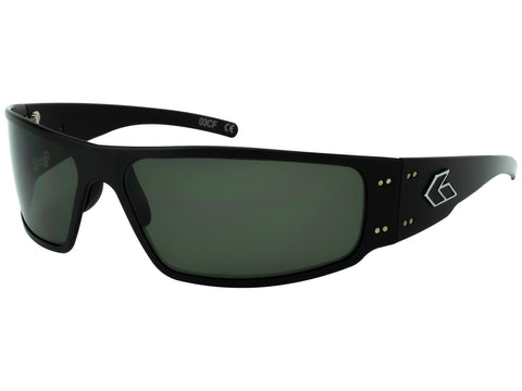 GATORZ MAGNUM - BLACK - EMERALD POLARIZED LENS