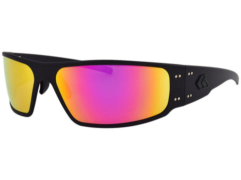 GATORZ MAGNUM - BLACK - SMOKED w/ PINK MIRRORED LENS