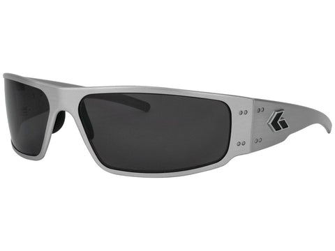 GATORZ MAGNUM - BRUSHED ALUMINUM - SMOKED POLARIZED