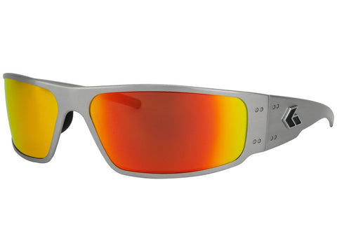 GATORZ MAGNUM - BRUSHED - SUNBURST MIRRORED POLARIZED LENS