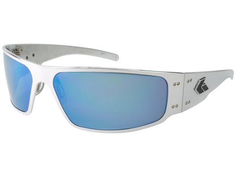 GATORZ WRAPTOR - BLACK - SMOKED W/ BLUE MIRROR LENS