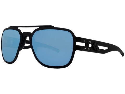 GATORZ STARK - MATTE BLACKOUT - SMOKED POLARIZED W/ BLUE MIRROR