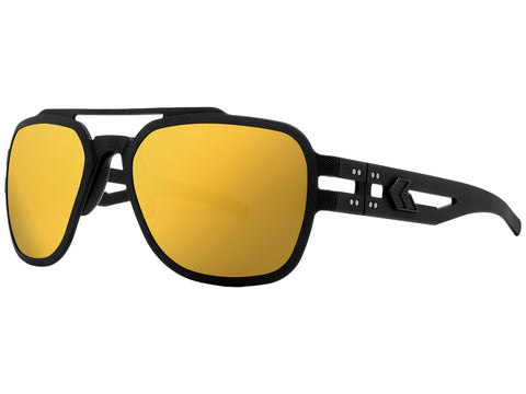 GATORZ STARK - MATTE BLACKOUT - SMOKED POLARIZED W/ GOLD MIRROR