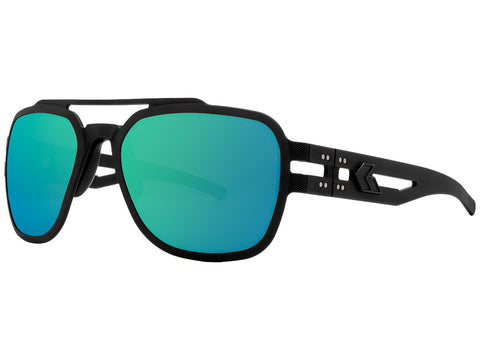 GATORZ STARK - MATTE BLACKOUT - SMOKED POLARIZED W/ GREEN MIRROR
