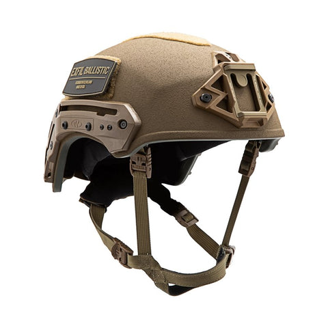 TEAM WENDY EXFIL BALLISTIC: COYOTE BROWN - SIZE 2 XL - RAIL 3.0 - LED (Left Eye Dominant) RETENTION