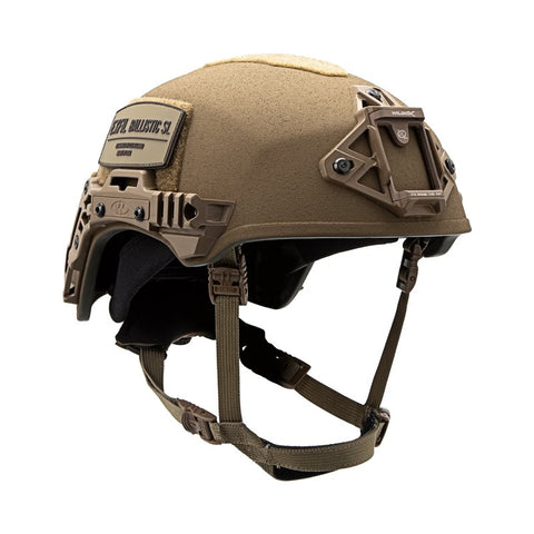 TEAM WENDY EXFIL BALLISTIC SL: COYOTE BROWN - SIZE 2 XL - LED (Left Eye Dominant) RETENTION