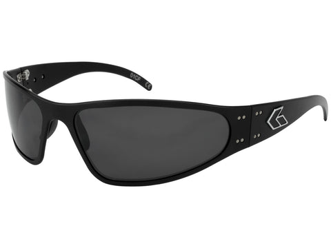 GATORZ WRAPTOR - BLACK - SMOKED POLARIZED LENS
