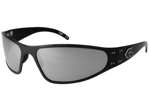 GATORZ WRAPTOR - BLACK - SMOKED W/ CHROME LENS