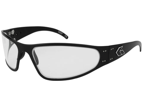 GATORZ WRAPTOR - BLACK - CLEAR LENS
