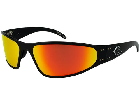 GATORZ WRAPTOR - BLACK - SUNBURST MIRRORED POLARIZED LENS