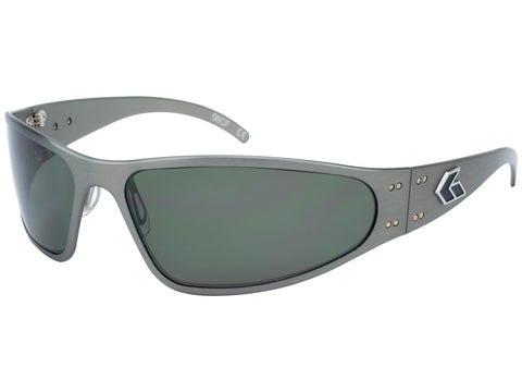 GATORZ WRAPTOR - GUN METAL - EMERALD POLARIZED LENS