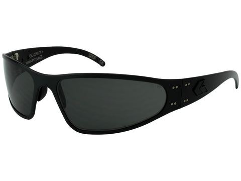 GATORZ WRAPTOR ANSI Z87+ BLACK W/ SMOKED ANTI-FOG LENS