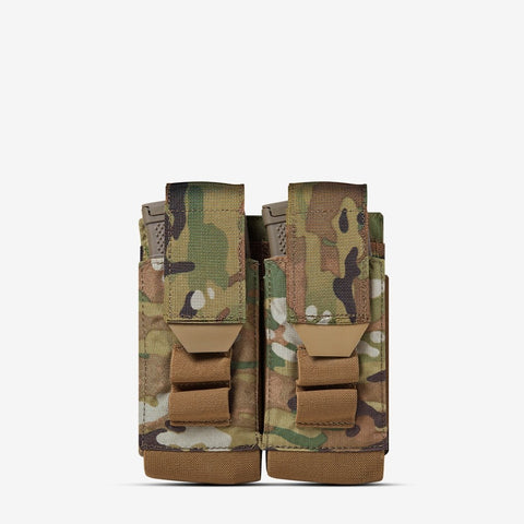 Carrier: Double Multi-Caliber Rifle Magazine Pouch - Color: MultiCam