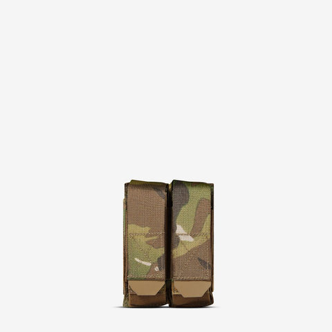 Carrier: Double Multi-Caliber Pistol Magazine Pouch - Color: Multicam