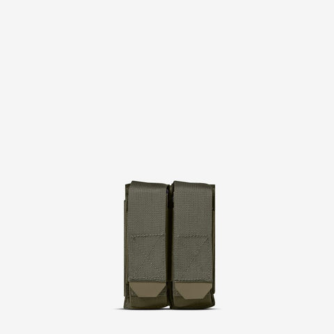 Carrier: Double Multi-Caliber Pistol Magazine Pouch - Color: Ranger Green