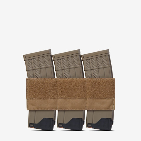 Carrier: Triple Kangaroo Rifle Magazine Pouch - Color: Coyote