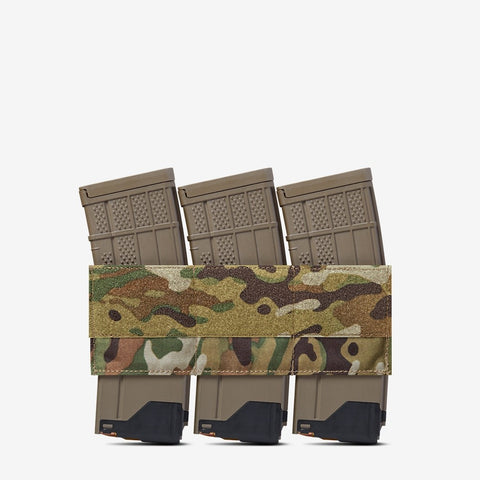 Carrier: Triple Kangaroo Rifle Magazine Pouch - Color: Multi-Cam