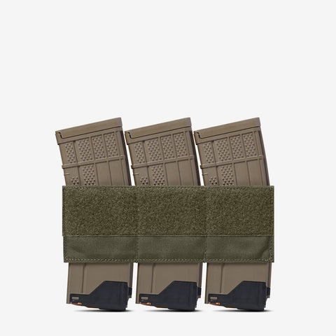 Carrier: Triple Kangaroo Rifle Magazine Pouch - Color: Ranger Green