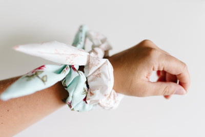 Scrap Scrunchies with ties