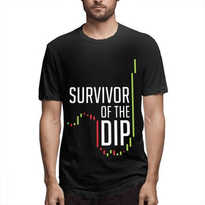 "Open image in slideshow, ""Survivor Of The Dip"" Comfortable T-shirt"