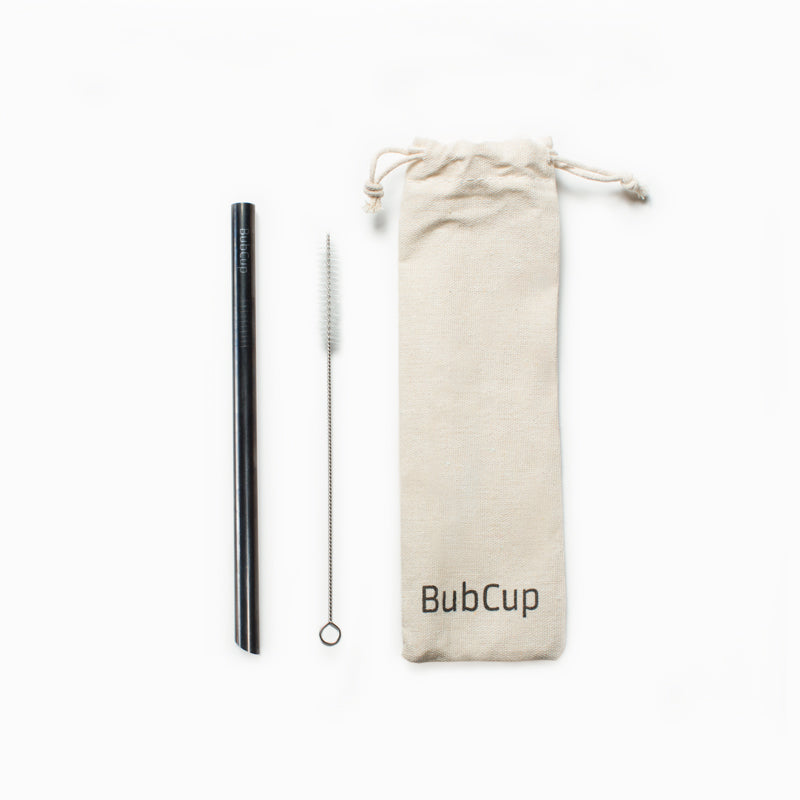 Straw Set - Black - BubCup