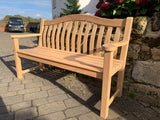 Alexander Rose Turnberry memorial bench available in Roble and Mahogany woods