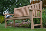 Victoria memorial bench made from teak wood