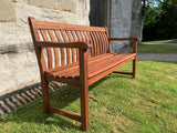 Alexander Rose Broadfield memorial bench available in Roble, Mahogany and Cornis woods
