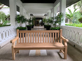 Winchester memorial bench made from teak wood