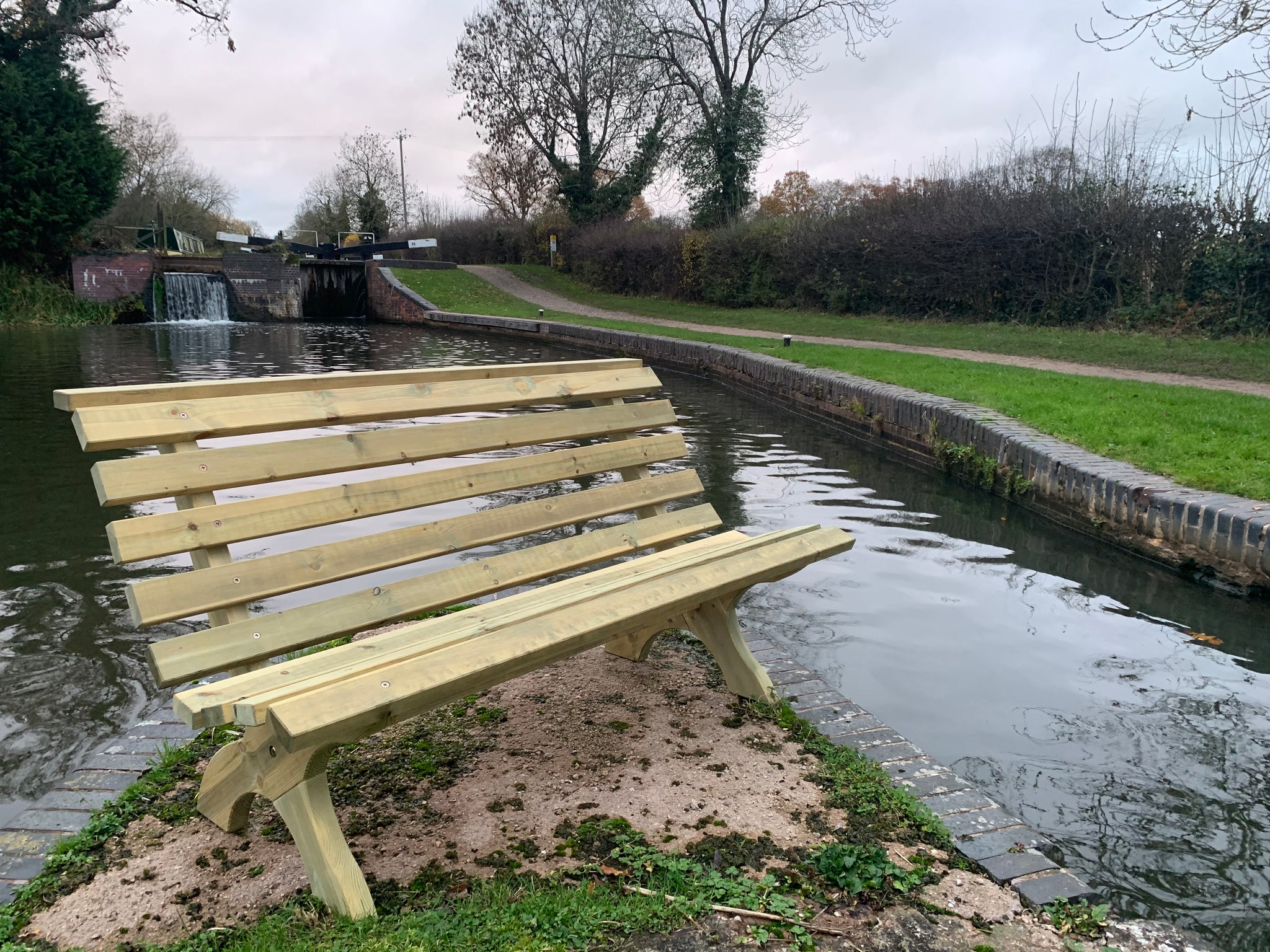 Lilly memorial benches made from treated softwood