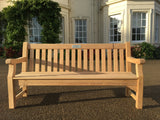 Alexander Rose royal park memorial bench available in Roble and Mahogany woods