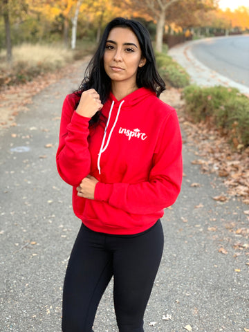 INSPIRE Unisex Pullover Hoodie (Red)
