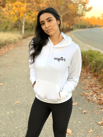 INSPIRE Unisex Pullover Hoodie (White)