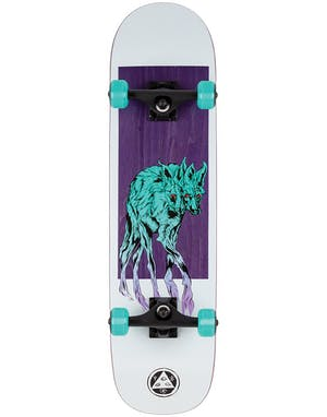 Welcome Maned Woof 8.0'' Complete Skateboard in White Purple and Teal