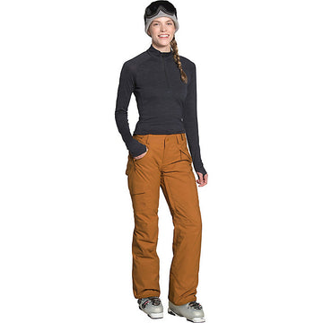 2021 The North Face Womens Insulated Freedom Pant in Timber Tan