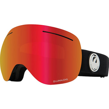 2020 Dragon X1 Snow Goggles in Black with LL Red Ion and Rose Lens