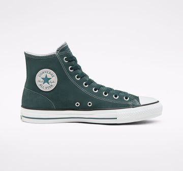 Converse CTAS Pro Hi Skate Shoe in Faded Spruce and White