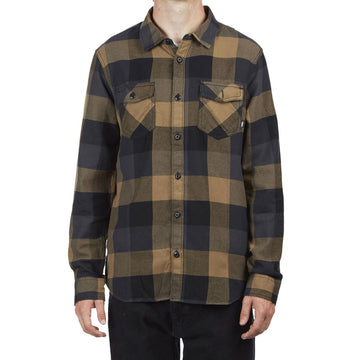 Vans Box Flannel Shirt in Black and Dirt