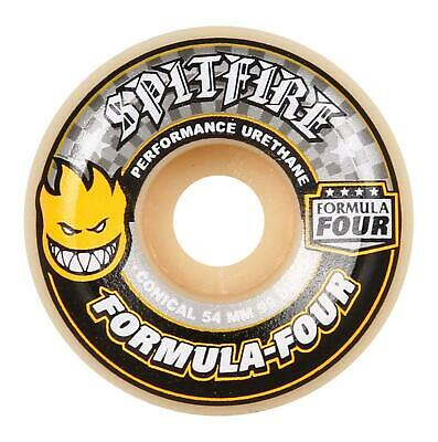 Spitifre Formula Four Yellow Print Conical Skate Wheel 99duro