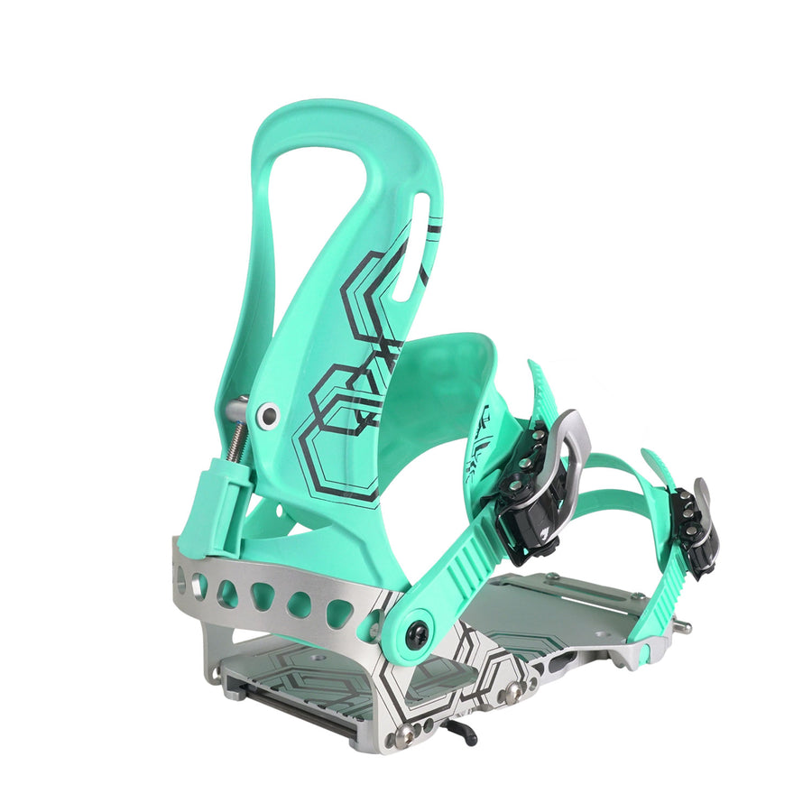 2021 Spark R&D Surge Womens Splitboard Binding in Mint and Metal