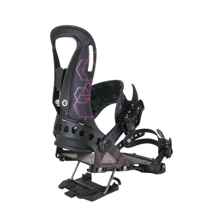 2021 Spark R&D Surge Womens Splitboard Binding in Black and Pink