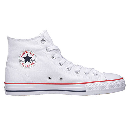 Converse CTAS Pro Hi Skate Shoe in White Red and Isignia Blue