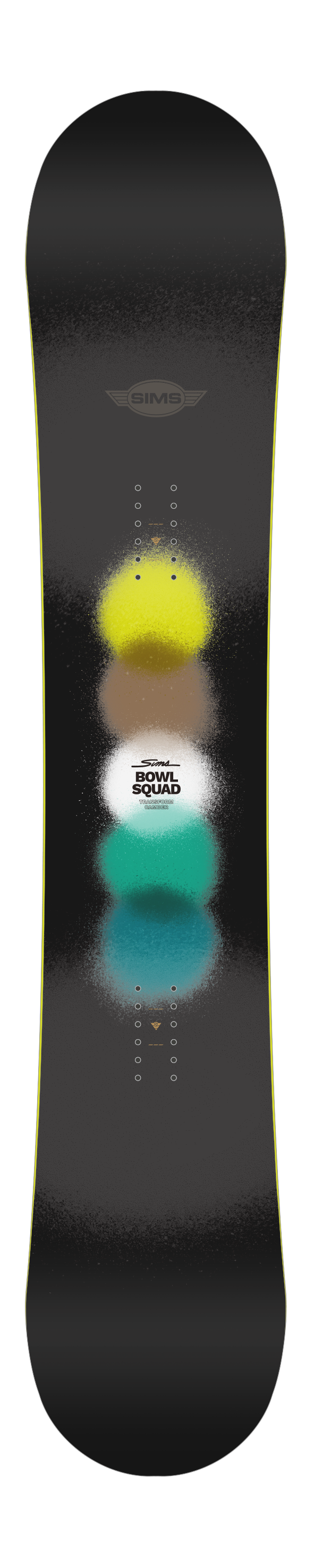 2021 Sims Bowl Squad Snowboard in Black