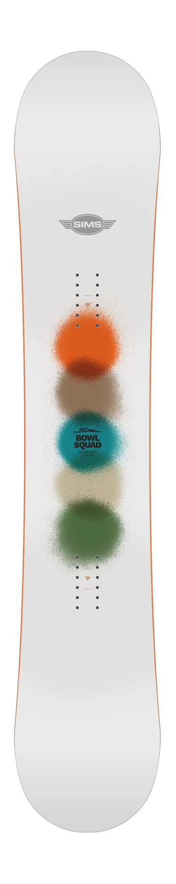 2021 Sims Bowl Squad Snowboard in White