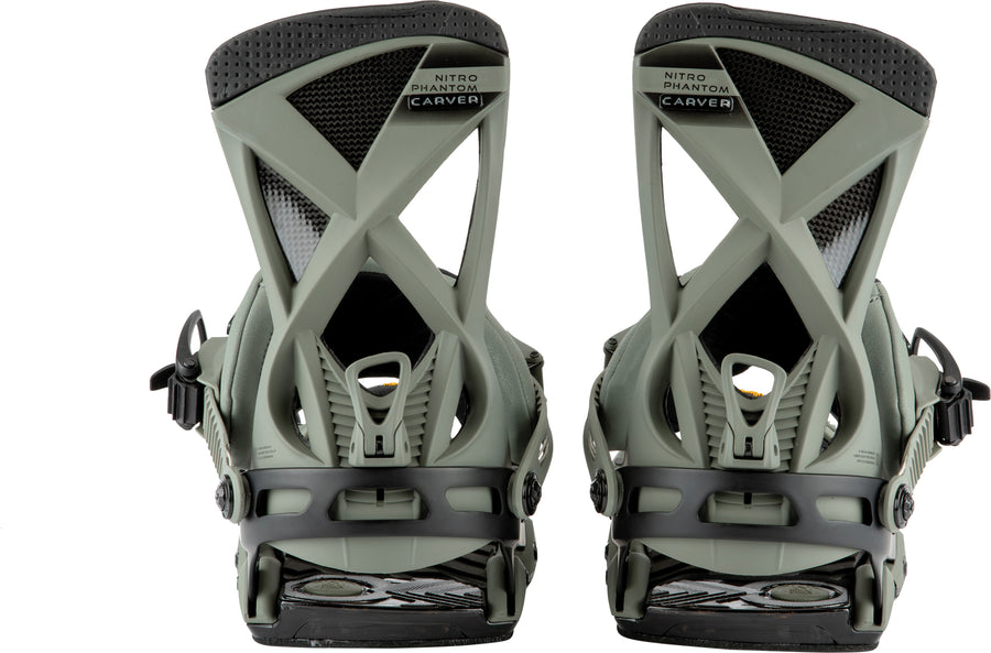 2021 Nitro Phantom Carver Snowboard Binding in Stone Black