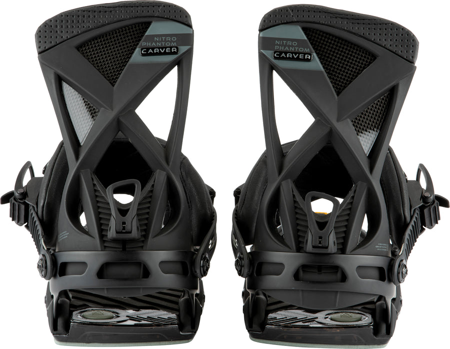 2021 Nitro Phantom Carver Snowboard Binding in Ultra Black