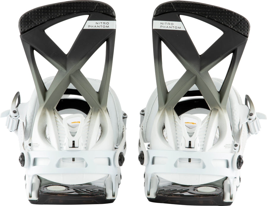 2021 Nitro Phantom Snowboard Binding in Black White