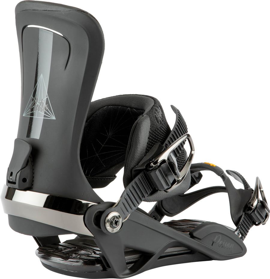 2021 Nitro  Womens Poison  Snowboard Binding in Ultra Black