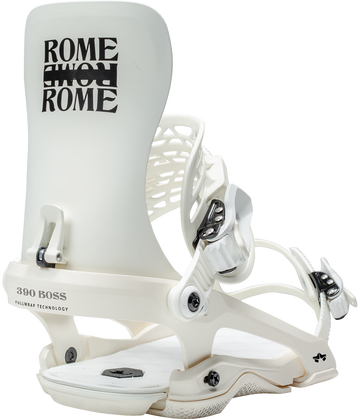 2021 Rome 390 Snowboard Binding in White