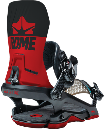 2021 Rome D.O.D. Snowboard Binding in Black and Red